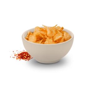 Paprikové chipsy. Slané chipsy. Paprika. NutriFood Keto diéta. Vysokobielkovinové jedlá.