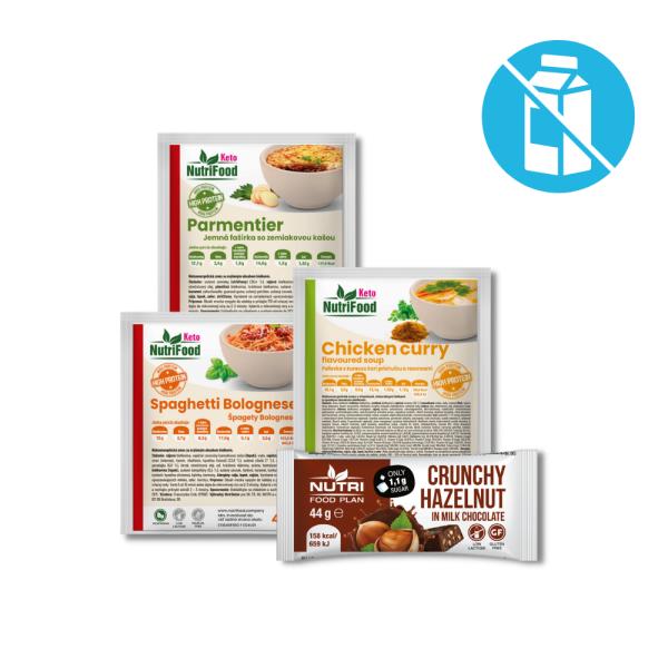 Bezlaktózový balíček zdravých potravín   NutriFood Keto