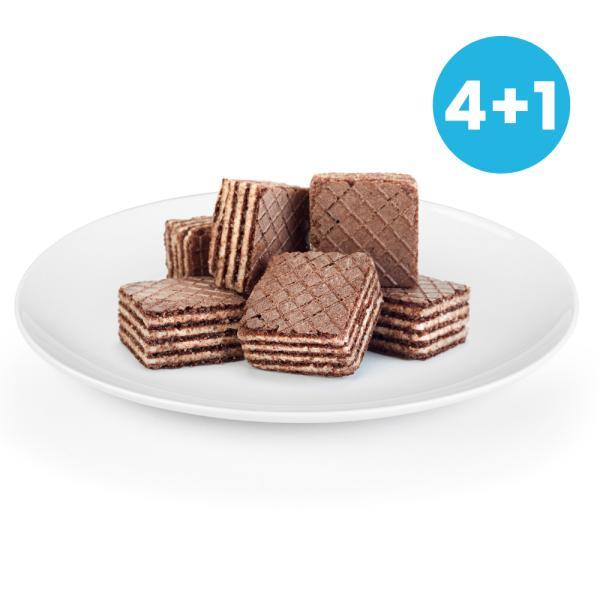 Čokoládové wafery 4+1 ZADARMO   NutriFood Keto