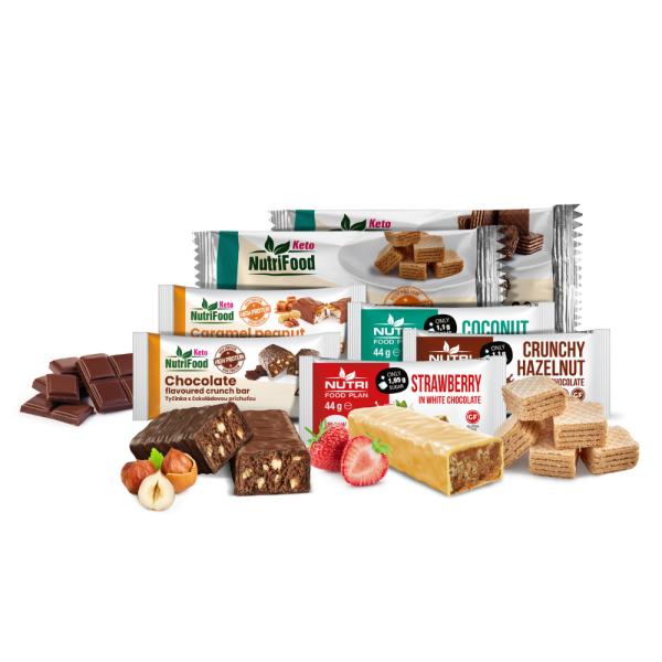 Balíček sladkostí   Tyčinky a wafery   NutriFood Keto