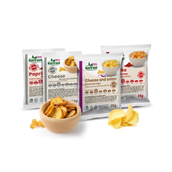 Proteínový balíček so slanými pochutinami (4 kusy)