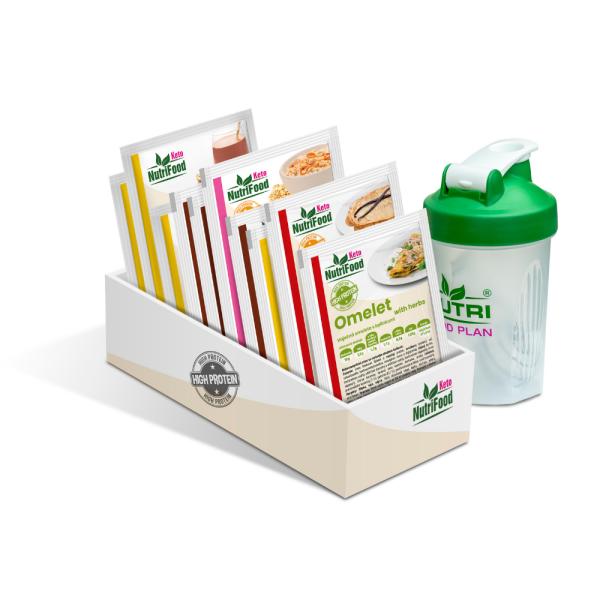 Raňajkový balíček zdravých potravín   NutriFood Keto